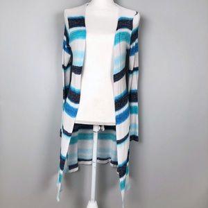Justice blue striped long sleeve kid cardigan (12)